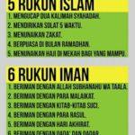 Cerita tentang Rukun Islam dan Rukun Iman
