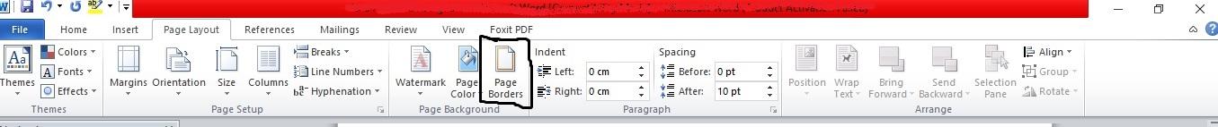Ingin membuat bingkai di microsoft word