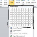 3 Cara Membuat Tabel di microsoft word dengan Cepat
