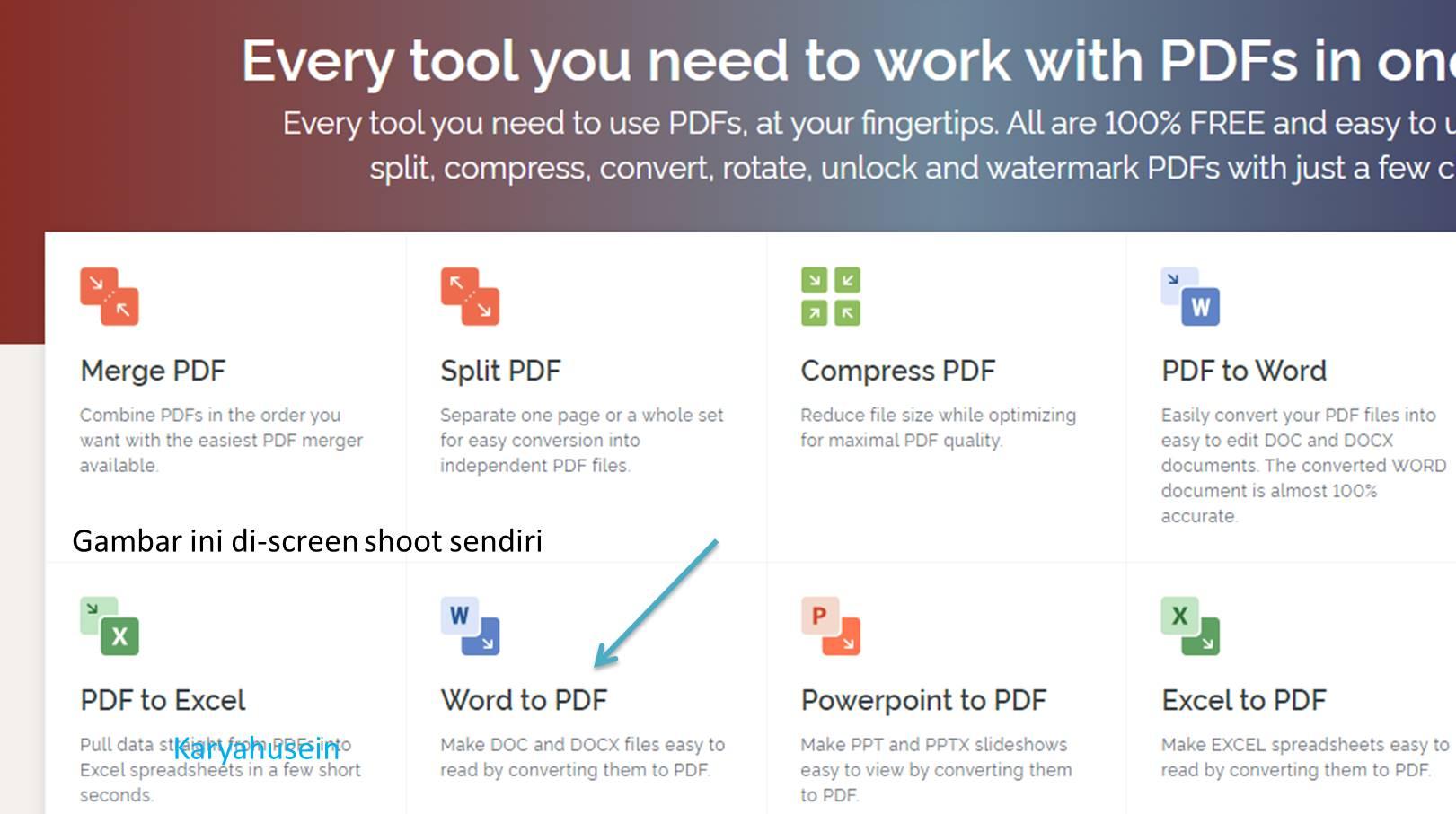 cara merubah Word ke PDF