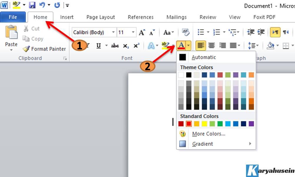 cara memilih jenis font