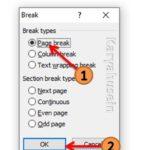 Cara menambah halaman dengan Page Break