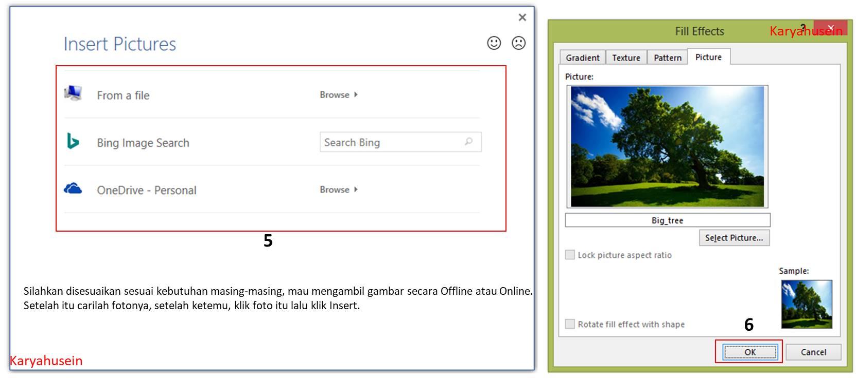 Gambar untuk cara membuat background pakai Foto Sendiri di word 2013
