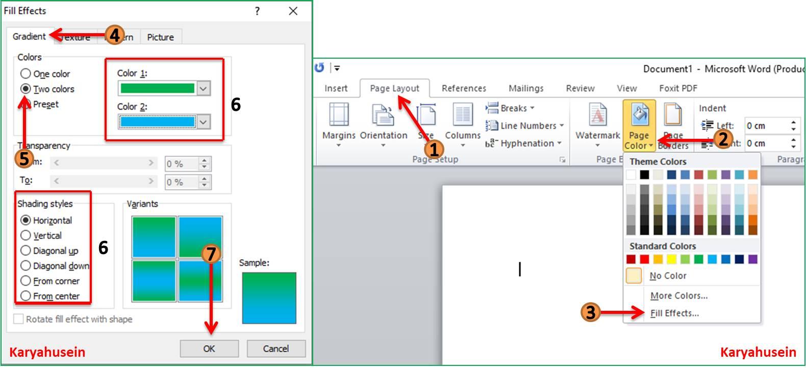 Cara Membuat Background di Microsoft Word