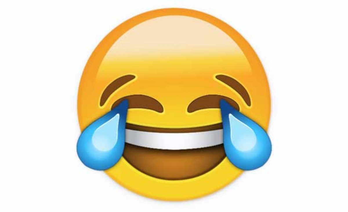 Emoji Tertawa Sambil Menangis